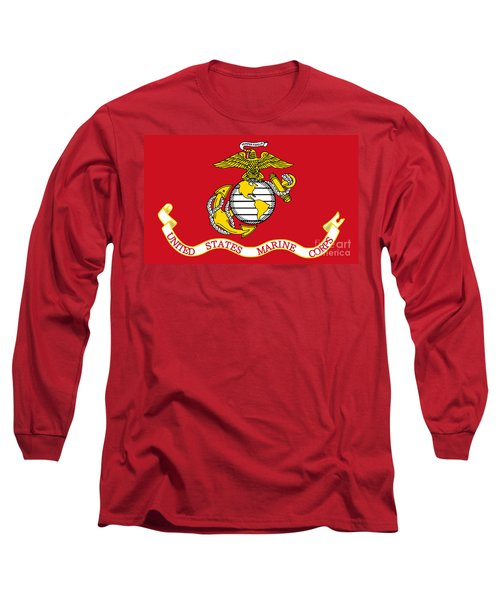 Flag Of The United States Marine Corps Long Sleeve T-Shirt by Pg Reproductions