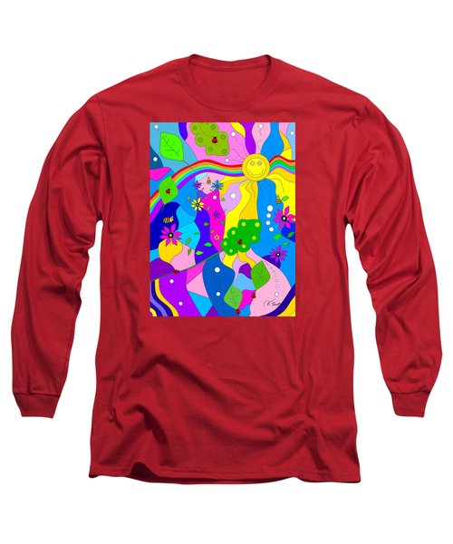 Long Sleeve T-Shirt featuring the painting Flamboyant Lion by Kathleen Sartoris
