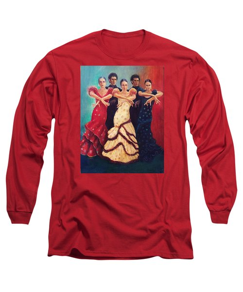Flamenco Dancers 5 Long Sleeve T-Shirt