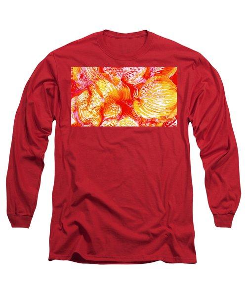 Flaming Hosta Long Sleeve T-Shirt