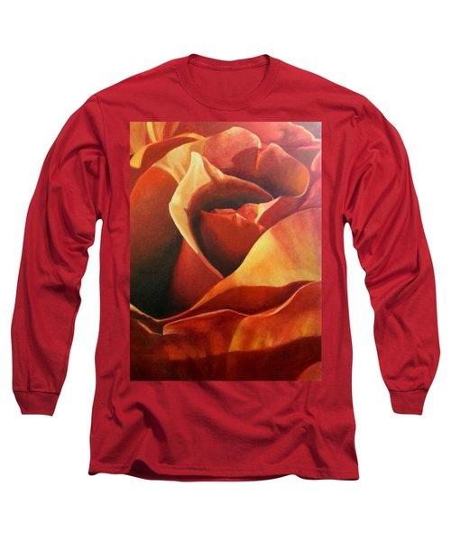 Flaming Rose Long Sleeve T-Shirt