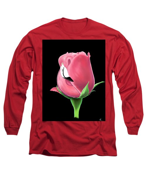Flamingo Rose Long Sleeve T-Shirt