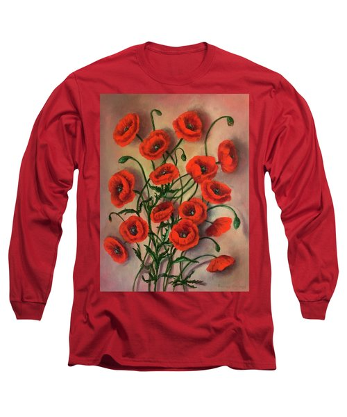 Flander Poppies Long Sleeve T-Shirt