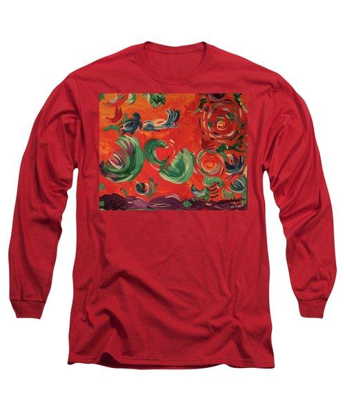 Flight Of Lotus Long Sleeve T-Shirt