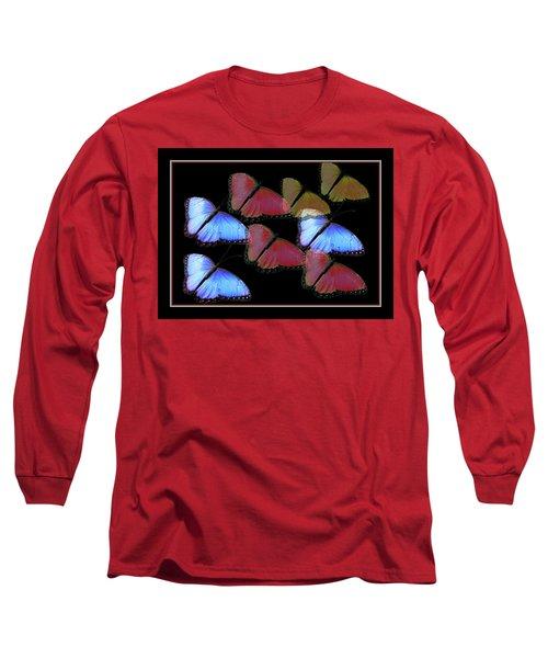 Flight Of The Butterflies Long Sleeve T-Shirt by Rosalie Scanlon
