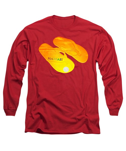 Flip Flops Kona Sunset Long Sleeve T-Shirt by David Lawson