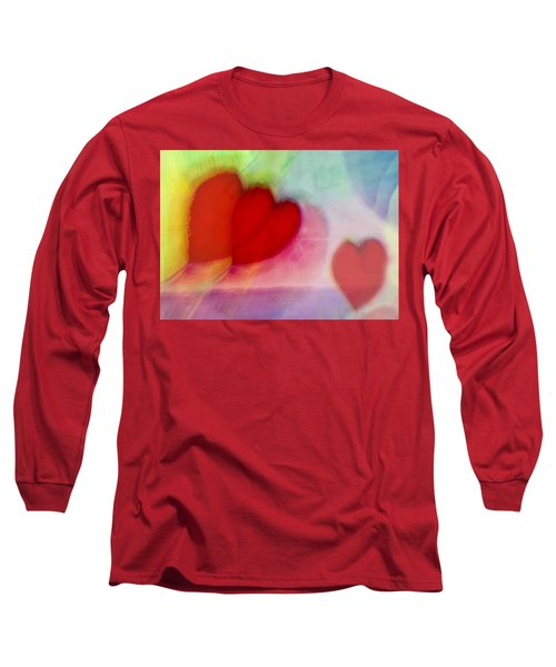 Floating Hearts Long Sleeve T-Shirt by Susan Stone