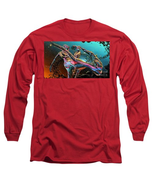 Floating In The Universe Long Sleeve T-Shirt by Ian Gledhill