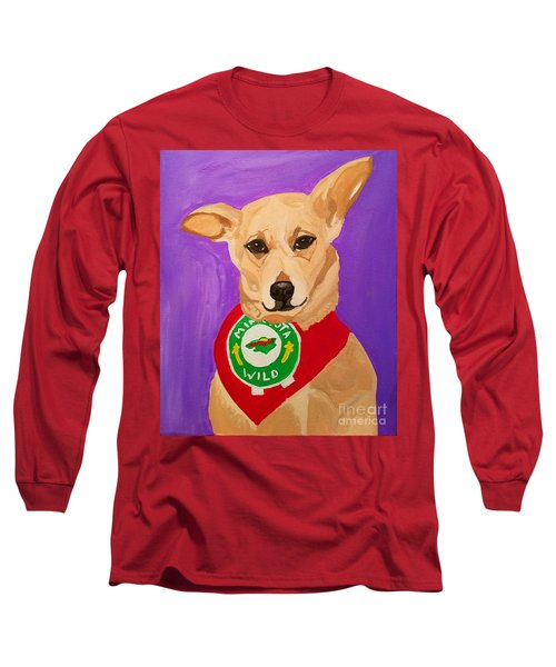 Long Sleeve T-Shirt featuring the painting Floppy Ear by Ania M Milo