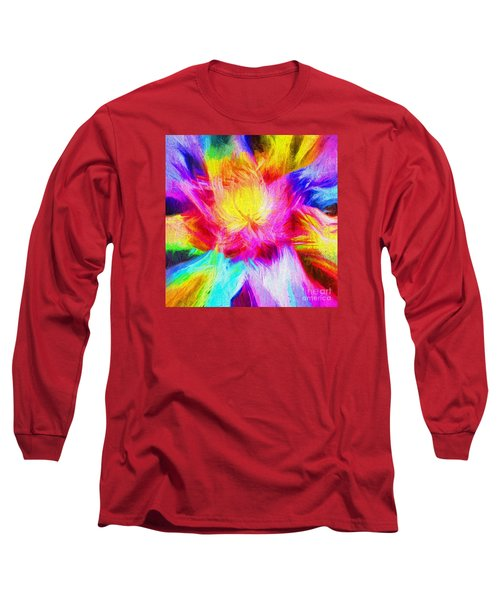 Long Sleeve T-Shirt featuring the photograph Floral Mandala 02 by Jack Torcello