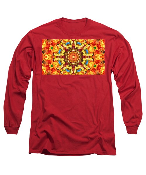 Mandala Of The Sun Long Sleeve T-Shirt by Anton Kalinichev