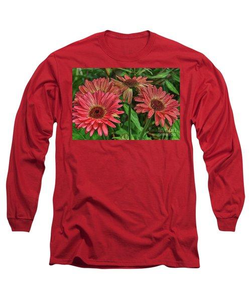 Long Sleeve T-Shirt featuring the photograph Floral Pink by Deborah Benoit