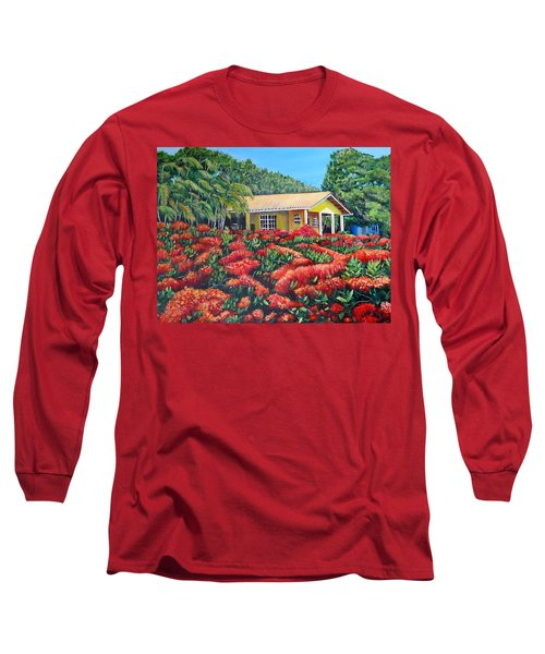 Floral Takeover Long Sleeve T-Shirt by Marilyn McNish