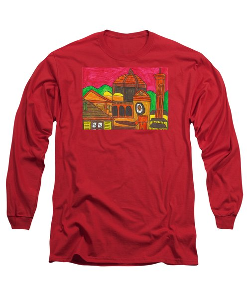 Long Sleeve T-Shirt featuring the painting Florence by Artists With Autism Inc