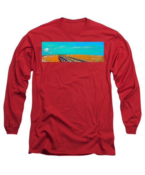 Florida Sand Dunes Atlantic New Smyrna Beach Long Sleeve T-Shirt
