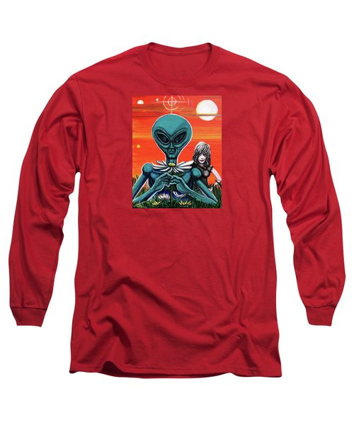 Flower. Alien. Moon Long Sleeve T-Shirt