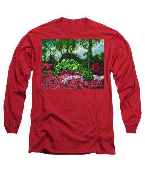 Flower Garden X Long Sleeve T-Shirt by Michael Frank