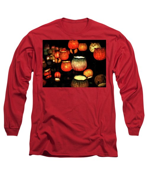 Flower Lamps Long Sleeve T-Shirt by Carol Crisafi