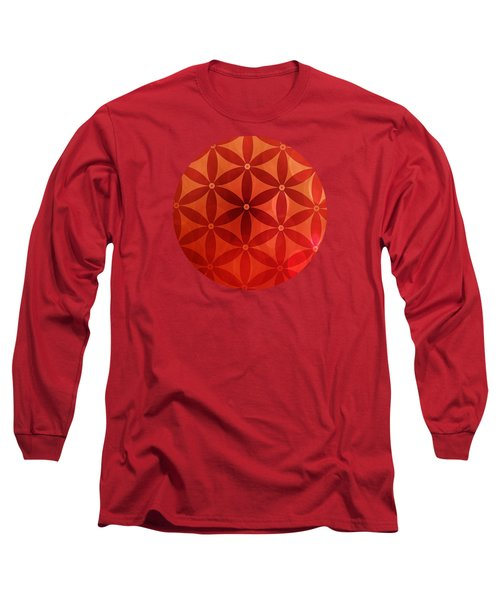 Flower Of Life  Long Sleeve T-Shirt by Serena King