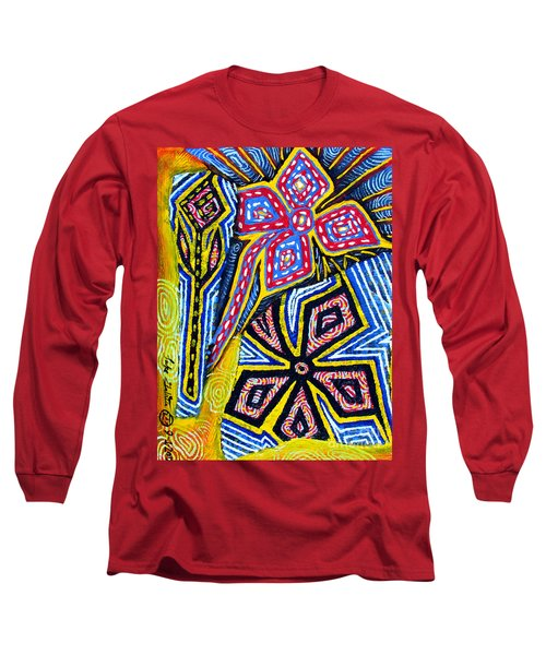 Flower Study Long Sleeve T-Shirt by Luke Galutia