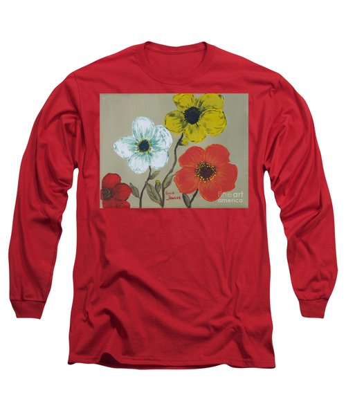 Flower Trio Long Sleeve T-Shirt