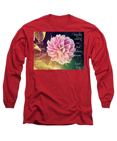 Flower With Scripture Long Sleeve T-Shirt
