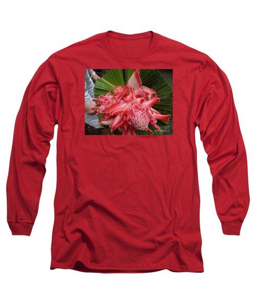 Flowering Coconiut Sao Tome Long Sleeve T-Shirt by John Potts