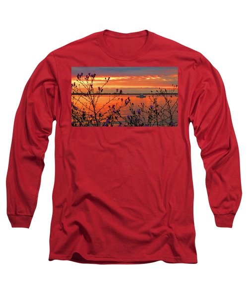 Flowers Along The Shore At Tibbetts Point  Long Sleeve T-Shirt