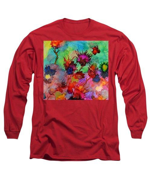 Flowers Blowin In The Wind Long Sleeve T-Shirt by Warren Thompson
