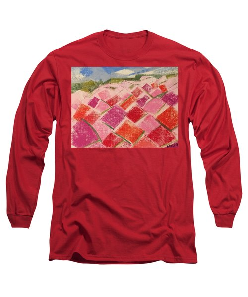 Long Sleeve T-Shirt featuring the pastel Flowers Fields by Norma Duch