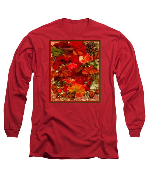 Long Sleeve T-Shirt featuring the mixed media Flowers For You by Ray Tapajna