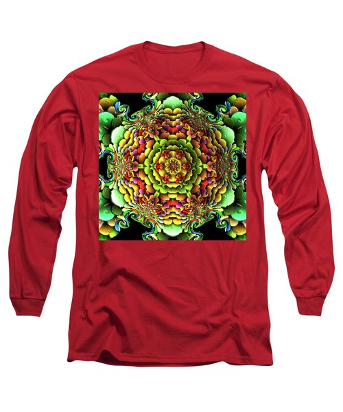 Long Sleeve T-Shirt featuring the digital art Flowerscales 61 by Robert Thalmeier