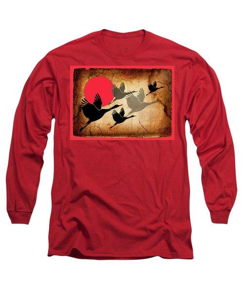 Flying Cranes Long Sleeve T-Shirt