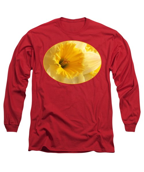 Focus On Spring - Daffodil Close Up Long Sleeve T-Shirt by Gill Billington