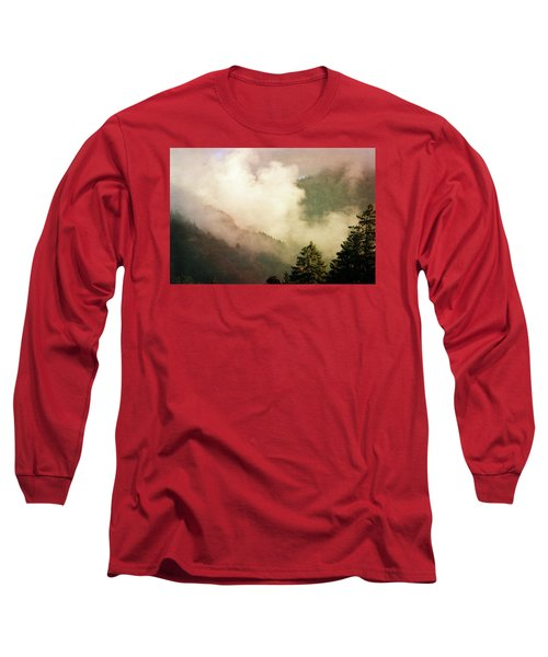 Fog Competes With Sun Long Sleeve T-Shirt by AugenWerk Susann Serfezi