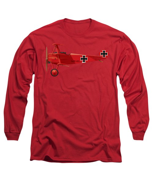 Fokker Dr.1 - The Red Baron - March 1918 Long Sleeve T-Shirt
