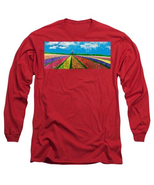Follow The Rainbow Long Sleeve T-Shirt by Belinda Low