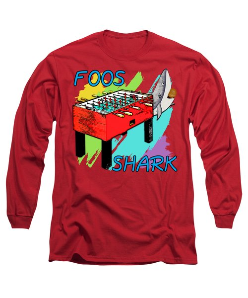 Foos Shark Long Sleeve T-Shirt by David G Paul