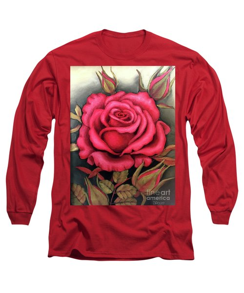 For You, The Red Rose Long Sleeve T-Shirt