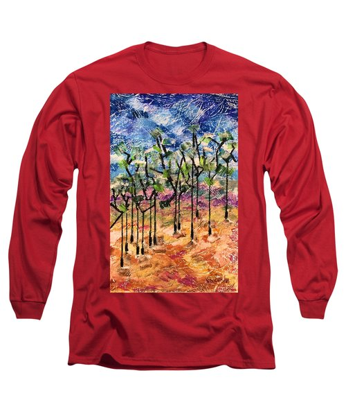 Long Sleeve T-Shirt featuring the painting Forest by Norma Duch