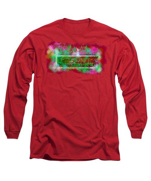 Forgive Brick Pink Tshirt Long Sleeve T-Shirt by Tamara Kulish