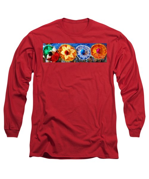 Four Amigos In Cozumel Long Sleeve T-Shirt by Sue Melvin