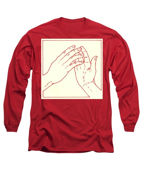 Long Sleeve T-Shirt featuring the drawing Fourth Station- Jesus Meets His Mother by William Hart McNichols