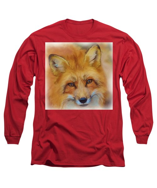 Fox Face Taken From Watercolour Painting Long Sleeve T-Shirt