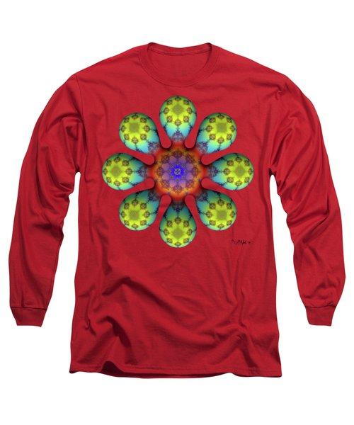 Fractal Blossom 4 Long Sleeve T-Shirt
