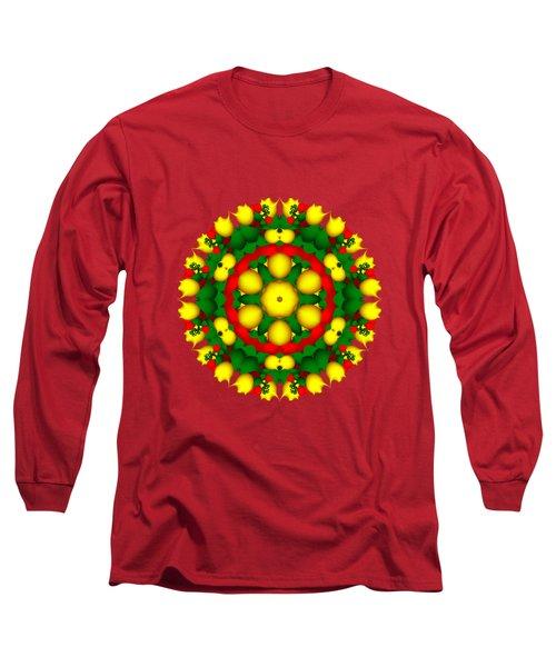 Fractal Christmas Wreath I Long Sleeve T-Shirt