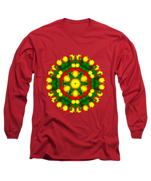 Fractal Christmas Wreath I Long Sleeve T-Shirt