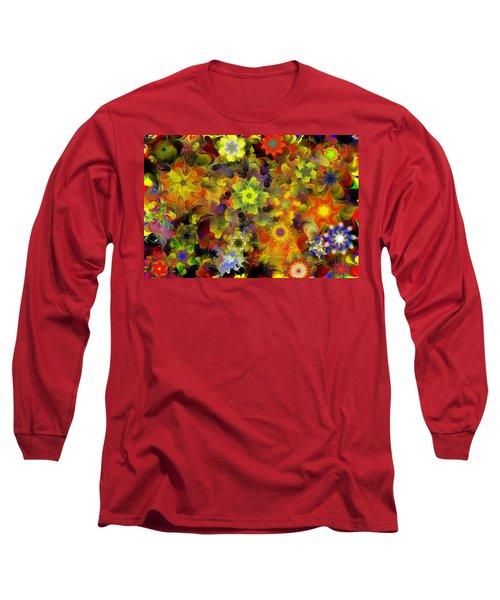 Fractal Floral Study 10-27-09 Long Sleeve T-Shirt by David Lane