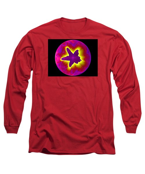Fractal Pattern Inside A Sphere Long Sleeve T-Shirt