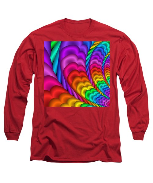 Fractalized Colors -10- Long Sleeve T-Shirt